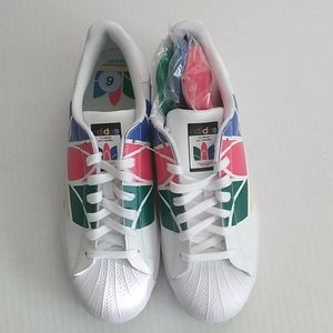 Adidas Superstar Pure Multicolored Sneakers Sz 9